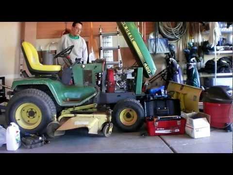 John Deere 420 with a Honda GX670 Repower