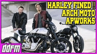 Keanu Reeves ARCH Motorcycle Company / Harley Davidson FINED, WORLD FIRST 3D Printed Motorcycle