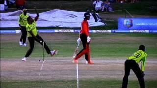Jerome Taylor over vs Trinidad