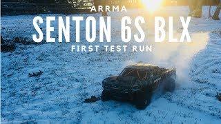 NEW Arrma Senton 6S BLX First Run - RC Buggy on Snow - Driftomaniacs