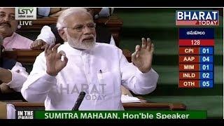 Lok Sabha LIVE | No-Confidence Motion in Parliament LIVE | Pm Modi Live Speech From Lok Sabha