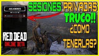 RED DEAD REDEMPTION 2 ONLINE SESIONES PRIVADAS TRUCO | DINERO CON CAZA Y PESCA SOLO