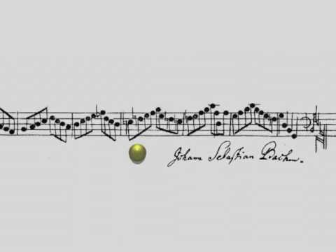J.S. Bach - Crab Canon on a Mobius Strip
