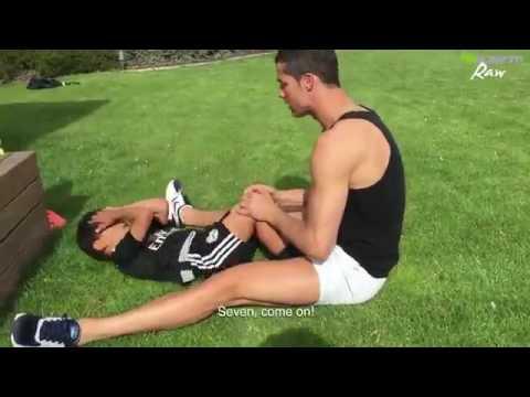 ►►Cristiano Ronaldo and His Son New Video 2016   Push Up Prictice