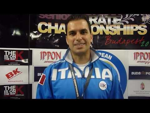 Interview Luca Valdesi. Bronze Medal Individual Male Kata. 48th European Karate Championships