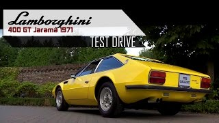 LAMBORGHINI 400 GT JARAMA 1971 - Full test drive in top gear - V12 Engine sound | SCC TV