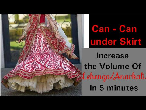 DIY : Can-Can Under skirt How to Increase The Volume Of Lehenga/Skirt/saree in 5 minutes