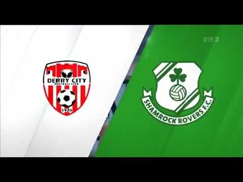 Match Highlights   Derry City 0-1 Shamrock Rovers, Ryan McBride Brandywell Stadium   19th April 2019