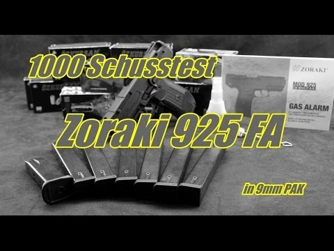 1000 Schusstest mit der Zoraki 925 in Full Auto itemprop=