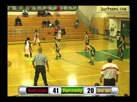 Girls Hoops: Salesian vs. Kennedy (Sacramento) - Full BayPreps Broadcast - December 28, 2012
