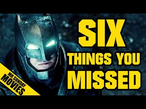 BATMAN V SUPERMAN: DAWN OF JUSTICE Teaser Trailer - Six Things You Missed