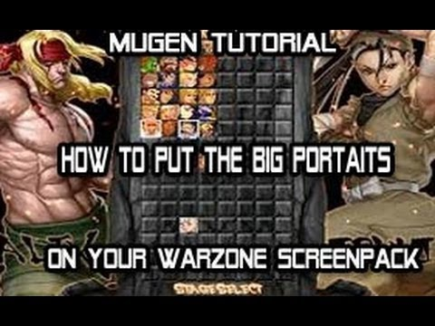 How To Put The Big Portaits On Your WarZone Screenpack