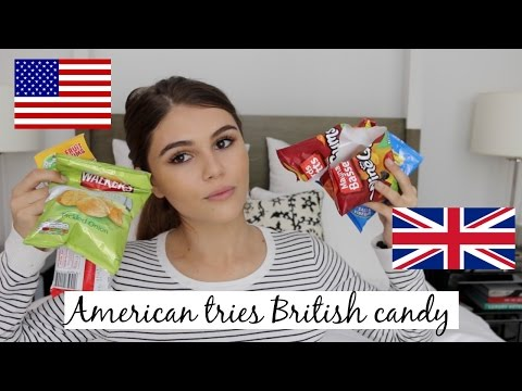 AMERICAN TRIES BRITISH CANDY 2016 ♡