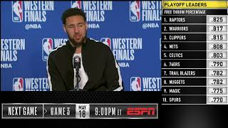Klay Thompson Press Conference | Western Conference Finals Game 2