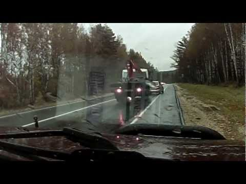 Truck Crashes into Car