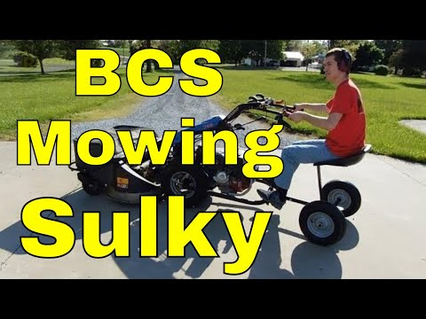 RMM0072 - BCS Mowing Sulky attachment assembly and review