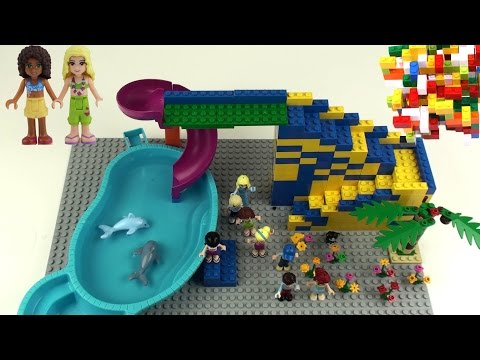 Download lego friends 2 slide dolphin swimming pool for Piscina lego friends