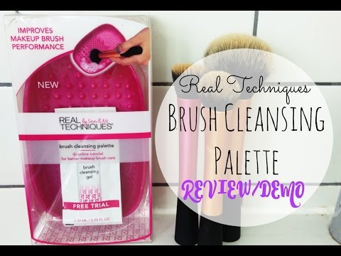 NEW Real Techniques Brush Cleansing Palette REVIEW/DEMO | Asia Jade