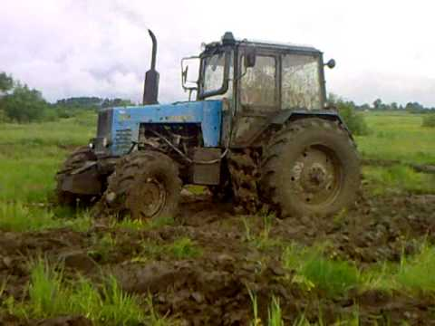 Беларус 1221 месит грязь