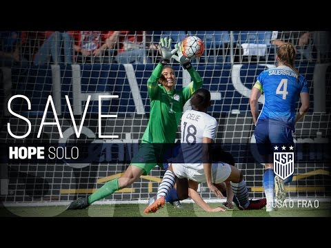 WNT vs. France: Hope Solo Saves - March 6, 2016