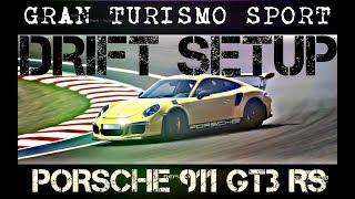 Gran Turismo Sport : Porsche 911 GT3 RS - Drift Setup (GT Sport Drift Build)