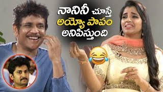 Anchor Syamala Making FUN on Nani | Nagarjuna Devadas interview | Devadas JukeBox |  Filmylooks