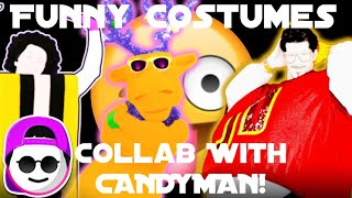 Funny Costumes in Just Dance! (Collab With CANDYMAN!)