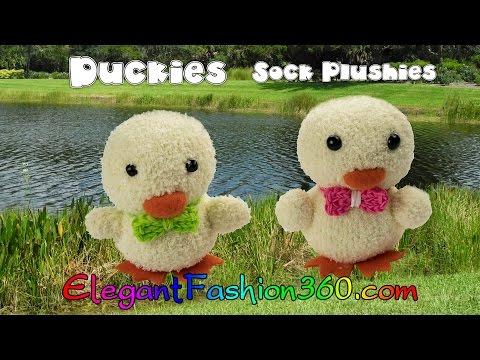 DIY Kawaii Ducky/Chick Sock Plushie/Sock Stuffed Animal/ - Húsvéti csibe készítése zokniból