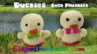 DIY Kawaii Ducky/Chick Sock Plushie/Sock Stuffed Animal/Easter - How to by Elegant Fashion 360
