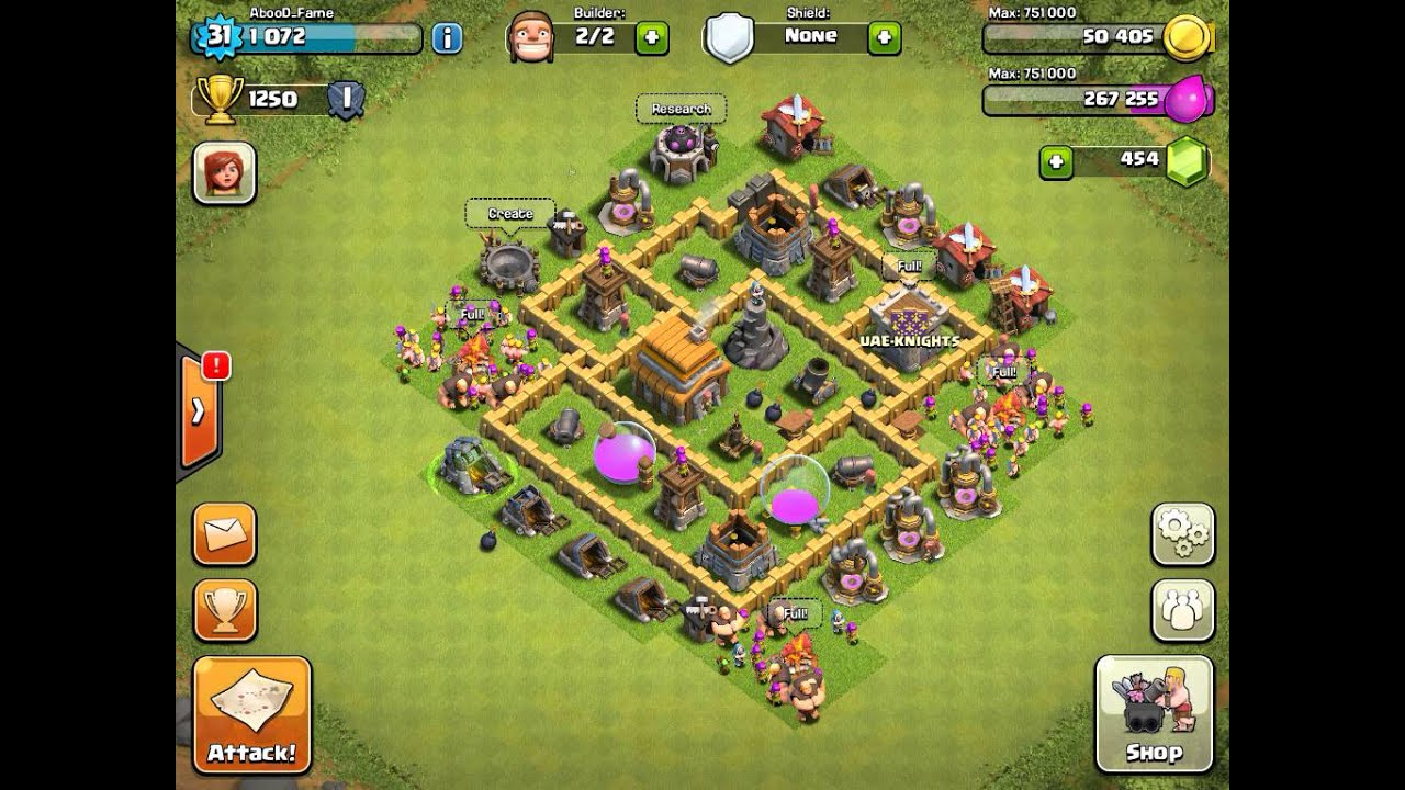 Clash of clans best defense strategy town hall level 5 youtube