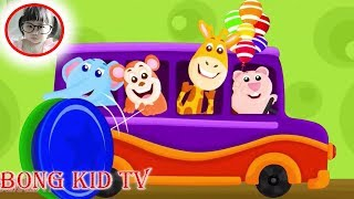 Wheels On The Bus Go Round and Round - Nursery Rhymes And Kids Songs for Kindergaten with BongKidTV