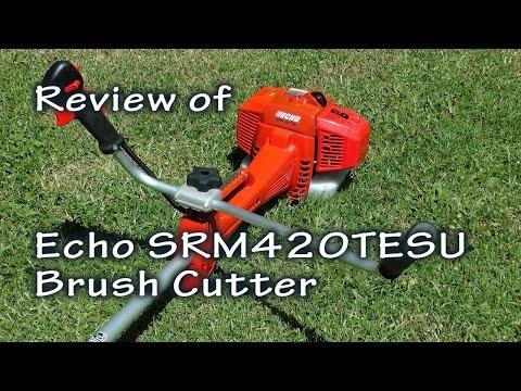 Echo SRM420TESU Brush Cutter Review. Grass Wrapping Around Gear Head