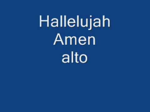 Hallelujah Amen   alto