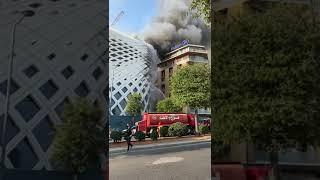 حريق مجمع تجاري