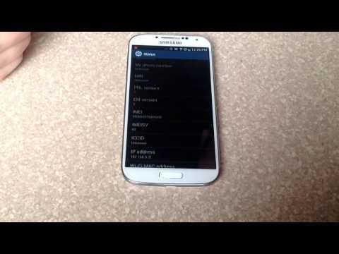 How to check esn imei number on a samsung galaxy s4