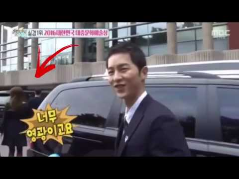 Song Joong Ki & Song Hye Kyo Leaving Together after Korea Popular Culture & Arts Awards