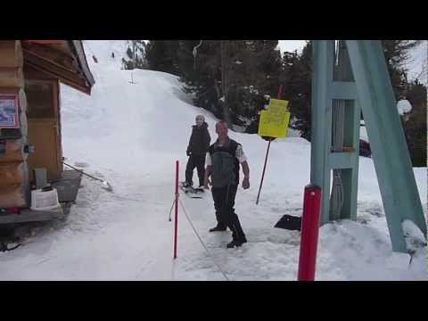 Funny ski lift fail on a snowboard (ORIGINAL)