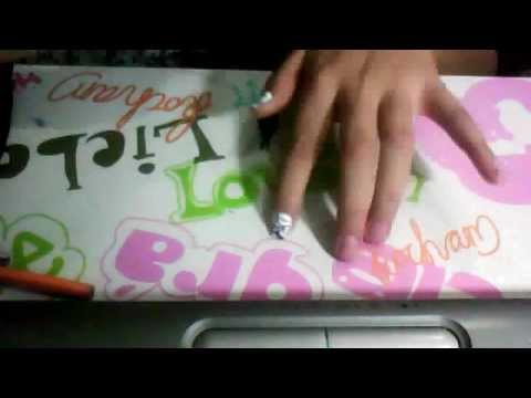 How To Make Fake Nails At Home With Tape Youtube