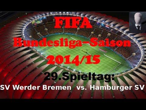 Werder Bremen vs. Hamburger SV (29. Spieltag) – FIFA Bundesliga-Saison 2014/15 (German/Deutsch)