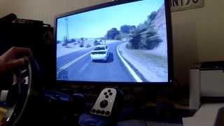GTA 5 PC - with G27 Steering Wheel - [Tutorial in description]