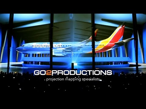 Projection Mapping - Southwest Airlines Rebrand Launch - Dallas