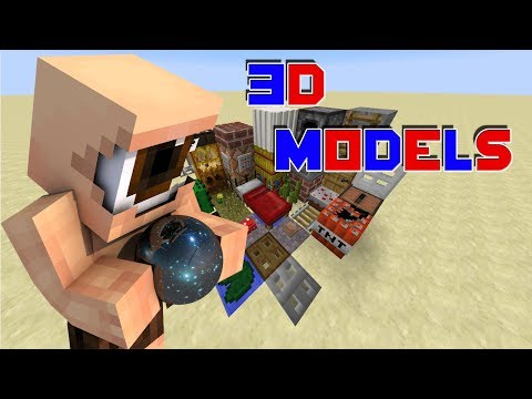 3D MODELS! [Minecraft Resource Pack Review] [1.8] [HD]