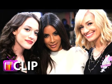 Kim Kardashian Sexy Surprise On '2 Broke Girls'