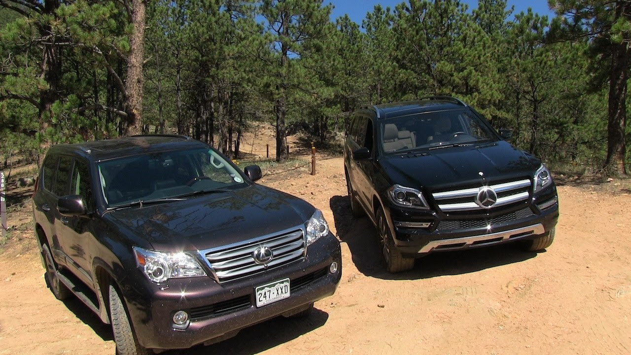 2013 Mercedes-Benz GL350 vs Lexus GX460 Off-Road Mountain ...