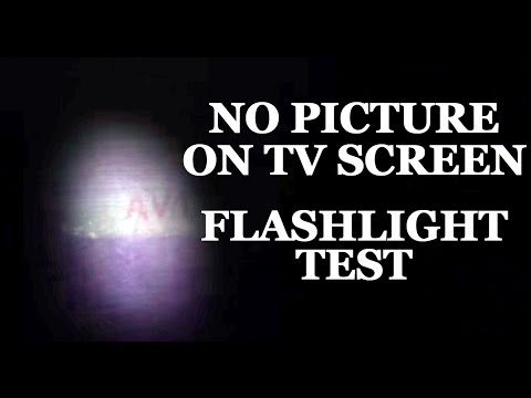 LCD & LED TV Repair - No Image & Blank Black Screen Flashlight Test - How to Fix LCD & LED TVs