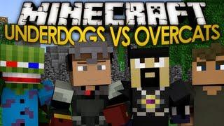 Minecraft Mini Games: Underdogs VS Overcats! w/ AntVenom, Bashurverse, & Excl!