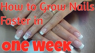 How to Grow Nails Faster in a Week Naturally | Strong, Shiny, Healthy, Long Natural Nails