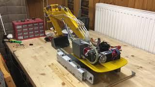 Rc hydraulic set 1/10 excavator first run