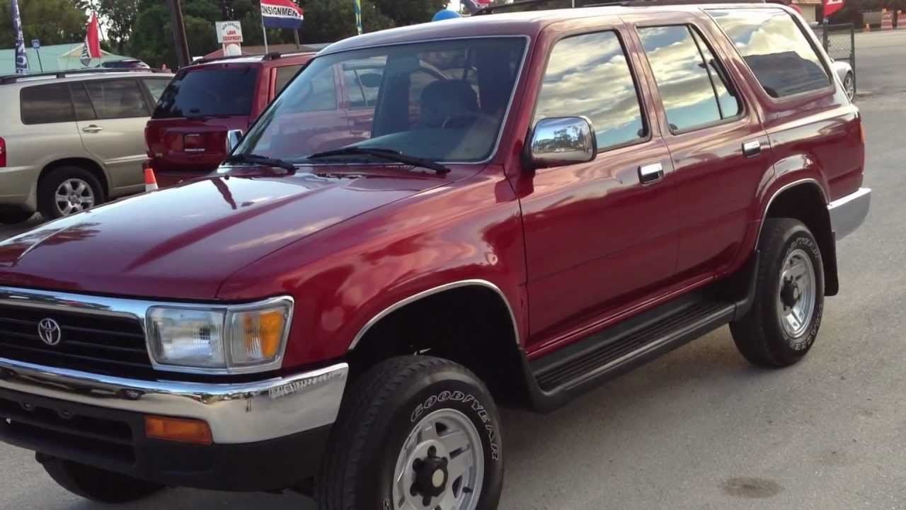 1995 Toyota 4runner Sr5 View Our Current Inventory At