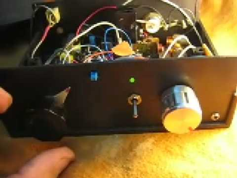 CW 3,5Mhz homebrew QRP 2watts transceiver with ceramic resonator vfo and DC receiver